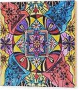 Worldly Abundance Wood Print by Teal Eye  Print Store