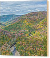 Worlds End State Park Lookout Wood Print