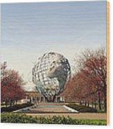World's Fair Globe Corona Park  Wood Print