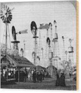 World's Fair Windmills Wood Print