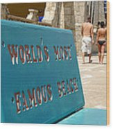 Worlds Most Famous Beach Bench Wood Print