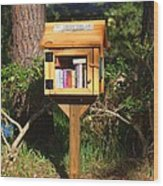 World's Smallest Library Wood Print