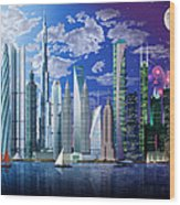 Worlds Tallest Buildings Wood Print
