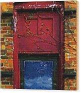 Wormhole Window Wood Print