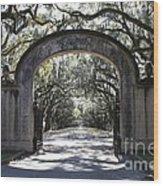 Wormsloe Plantation Gate 2x3 Wood Print