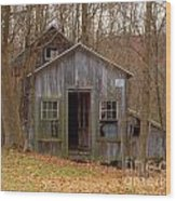 Worn Out Shed Wood Print