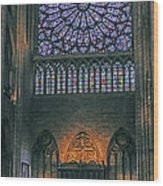Worship In Notre Dame Wood Print