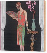 Worth Evening Dress Fashion Plate From Gazette Du Bon Ton Wood Print