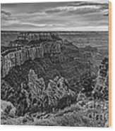 Wotan's Throne North Rim Grand Canyon National Park - Arizona Wood Print