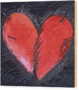 Wounded Heart Wood Print