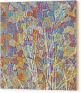 Woven Branches Long Wood Print