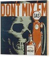 Wpa  Vintage Safety Poster Wood Print