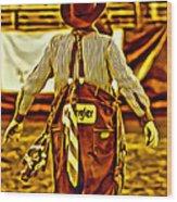 Wrangler Clown Wood Print