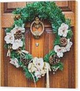 Wreath 27 Wood Print