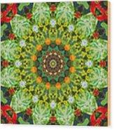 Wreath Kaleidoscope Wood Print