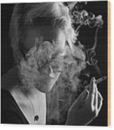 Wreathed In Smoke Wood Print