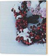 Wreathing Winter Sorrows Wood Print