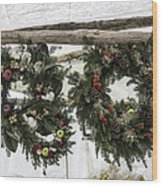 Wreaths For Sale Colonial Williamsburg Wood Print