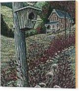 Wren House Wood Print