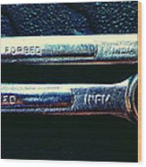 Wrench Handles F Wood Print