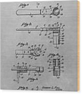 Wrench Patent Drawing Wood Print