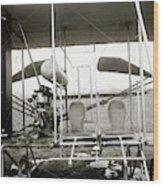 Wright Biplane Engine And Seats Wood Print