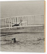Wright Brothers - First In Flight Wood Print