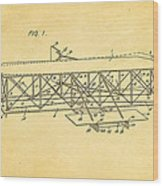 Wright Brothers Flying Machine Patent Art 1906 Wood Print
