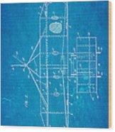 Wright Brothers Flying Machine Patent Art 2 1906 Blueprint Wood Print