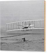 Wright Flyer At Kitty Hawk North Carolina Wood Print
