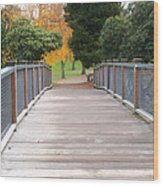 Wrights Park Bridge Wood Print