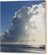 Wrightsville Beach Skyscape Wood Print