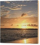 Wrightsville Beach Sunset Wood Print