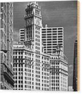 Wrigley Building Chicago Illinois Wood Print