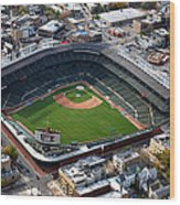 Wrigley Field Chicago Sports 02 Wood Print by Thomas Woolworth