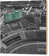Wrigley Field Chicago Sports 04 Selective Coloring Wood Print