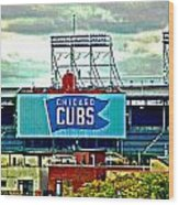 Wrigley Field Chicago Cubs Wood Print