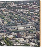 Wrigley Field - Home Of The Chicago Cubs Wood Print