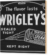 Wrigleys Spearmint Gum Wood Print