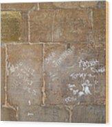 Writing On The Wall Wood Print