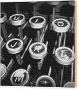 Writing The Great Novel - Black And White Wood Print