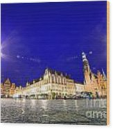 Wroclaw Poland Historical Market Square And The Town Hall Wood Print
