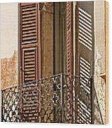 Wrong Balcony Romeo Wood Print