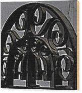 Wrought Iron Wood Print