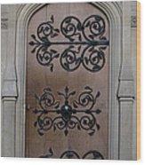 Wrought-iron Door Wood Print