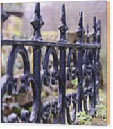 Wrought Iron Fence 1 Wood Print