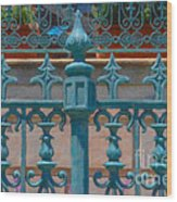 Wrought Iron Fence Wood Print