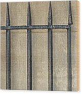 Wrought Iron Gate Wood Print by Brenda Bryant