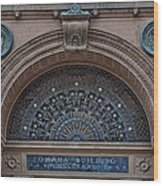 Wrought Iron Grille - The Omaha Building Wood Print