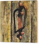 Wrought Iron Handle Wood Print by Sam Sidders
